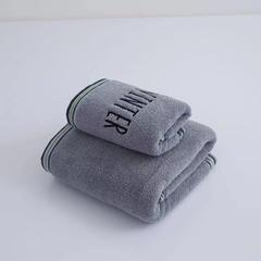 2018新款纯棉四季浴巾70×140cm 灰色