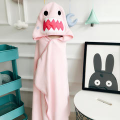 2018新款萌趣吸水浴巾 粉色鲨鱼(75*120cm)