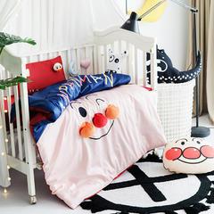 2018新款婴童高端治愈系暖心系列四件套 110*140cm 面包小子 蓝