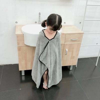 2019新款水洗棉浴袍小披肩 75*120 灰色小狐狸