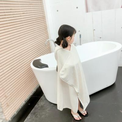 2019新款水洗棉浴袍小披肩 75*120 可可兔