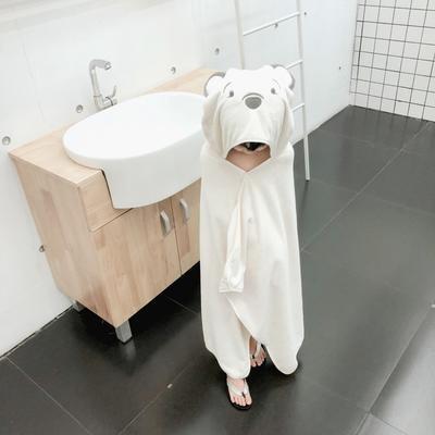 2019新款水洗棉浴袍小披肩 75*120 小熊