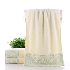 2018新款乳白花套巾 绿色-毛巾35×75
