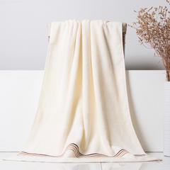 2018新款红嘴鸟简尚浴巾面巾套巾 白色浴巾(70*140cm)