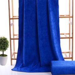 2018新款超细纤维素色浴巾 70*140cm 宝蓝