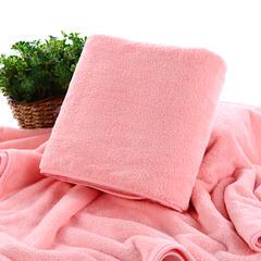 2018新款--高密珊瑚绒包边吸水套巾-毛巾(35*75)浴巾(70*140) 粉色毛巾
