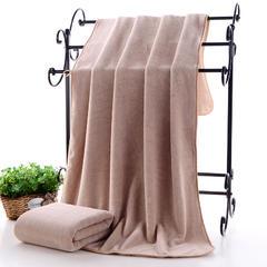 2018新款--高密珊瑚绒包边吸水套巾-毛巾(35*75)浴巾(70*140) 咖色浴巾