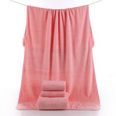 2018新款--高密珊瑚绒吸水巾套巾300克-毛巾(35*75)浴巾(70*140) 粉色毛巾