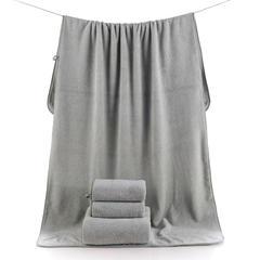 2018新款--高密珊瑚绒吸水巾套巾300克-毛巾(35*75)浴巾(70*140) 青色浴巾