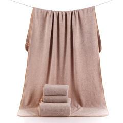 2018新款--高密珊瑚绒350克子母套巾-毛巾(35*75)浴巾(70*140) 咖色浴巾