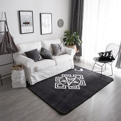 2018新款北欧大版地毯花型 150*190 阿尔法-星座地毯