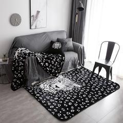 2018新款北欧大版地毯花型 150*190 潮流豹地毯