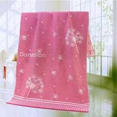 2018新款-加大浴巾(95*180cm) 蒲公英粉
