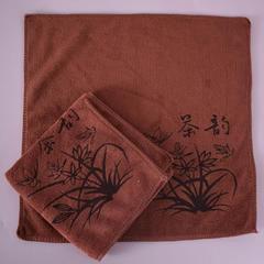 2018新款超细纤维茶巾 30*30cm 咖啡色