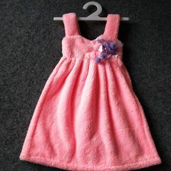 2019新款珊瑚绒个性连衣裙擦手巾 其它尺码 浅粉色(吊带款)