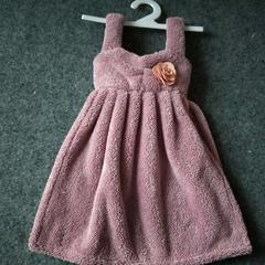2019新款珊瑚绒个性连衣裙擦手巾 其它尺码 豆沙色(吊带款)