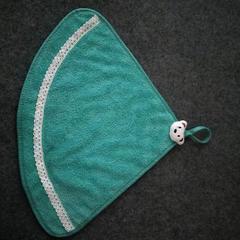 2019新款小熊图超吸水三角擦手巾 绿色