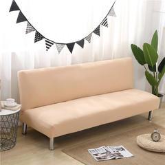 2018新款-纯色无扶手沙发床套 通用160-190cm 驼色