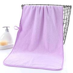 2018新款--350平方克高密珊瑚绒套巾-毛巾(35*75)浴巾(70*140) 毛巾-浅紫