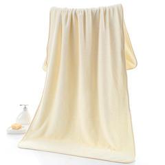 2018新款--350平方克高密珊瑚绒套巾-毛巾(35*75)浴巾(70*140) 浴巾-米色