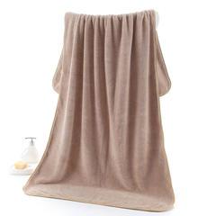 2018新款--350平方克高密珊瑚绒套巾-毛巾(35*75)浴巾(70*140) 浴巾-驼色