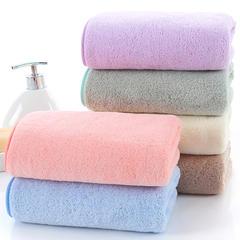 2018新款--350平方克高密珊瑚绒套巾-毛巾(35*75)浴巾(70*140) 套巾-浅紫