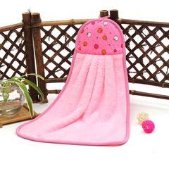 2019新款-跑量款珊瑚绒擦手巾(33*43cm) 粉色