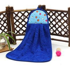 2019新款-跑量款珊瑚绒擦手巾(33*43cm) 蓝色