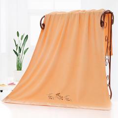 2019新款-超细纤维布艺卡通礼品浴巾(70*140 cm) 黄