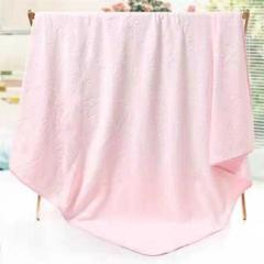 2018新款超细纤维磨毛压花婴童正方形童被  1m×1m 粉色