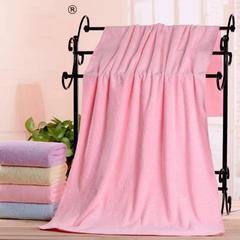 2018新款压花锁边浴巾   70×140 粉色