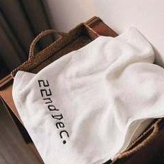 2019新款-32股12月份星座毛巾浴巾 可定制 白色毛巾35*75