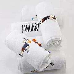 2019新款-刺绣运动白毛巾(22*110cm) 白色