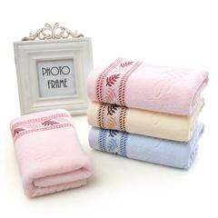 2019-新品32极限股树叶毛巾 粉色毛巾34*75c±2cm
