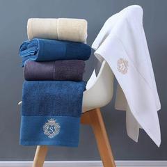 五星级酒店毛巾加大加厚超强吸水洗脸巾纯棉家用成人柔软面巾两条 白色35*75cm