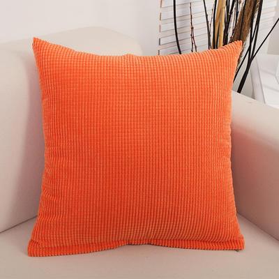 2018新款灯芯绒玉米粒抱枕(小尺寸) 30x50cm(抱枕套) 灯芯绒 橙色