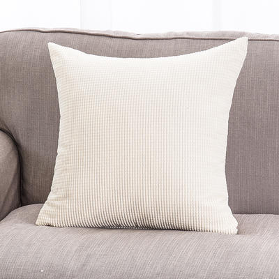 2018新款灯芯绒玉米粒抱枕(大尺寸) 55x55cm(抱枕套) 灯芯绒 米色