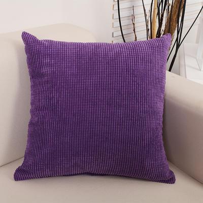 2018新款灯芯绒玉米粒抱枕(大尺寸) 50x50cm(抱枕套) 灯芯绒 紫色