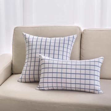 2018新款纯棉帆布方格系列抱枕