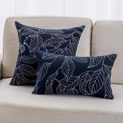 2018新款纯棉帆布森林系列抱枕 30*50cm(抱枕套) 印象-黑
