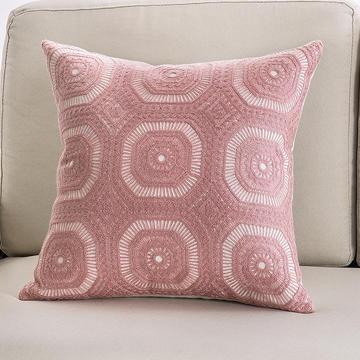 2018新款链条绣粉色系列抱枕