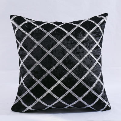 2018新款菱形格抱枕 45*45cm(抱枕套) 菱形 黑色抱枕