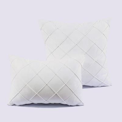 2018新款四方格嵌条款抱枕 30*45cm(抱枕套) 四方格 嵌条款 白色