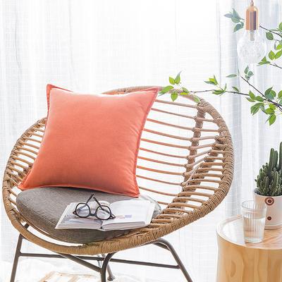 2019新款彩棉麻抱枕 30*45cm(抱枕套) 彩棉麻 橙色