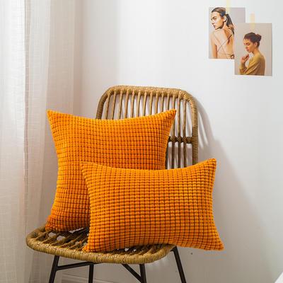 2019新款A007 大玉米粒 抱枕 30*45cm抱枕套 大玉米粒 橙色