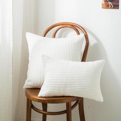 2019新款A008 直条抱枕 30*45cm抱枕套 直条 白色