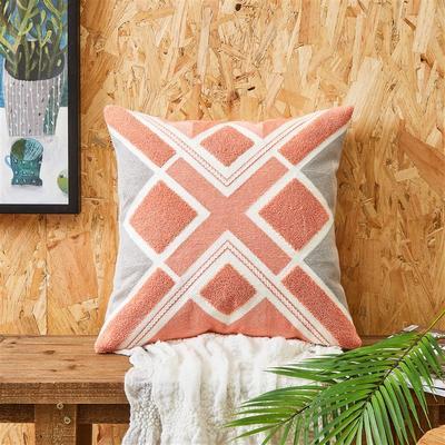 2020新款A271 复合毛巾绣 抱枕2 45*45cm抱枕套 复合绣 格调-粉色 正