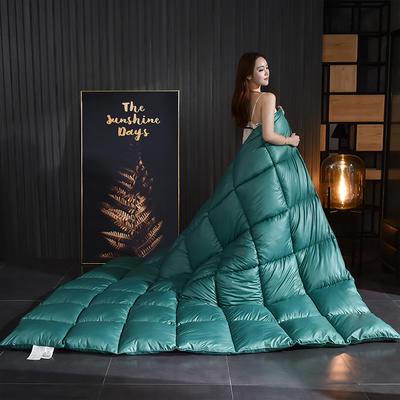 2020新款柔赛丝纯色羽绒被 150x200cm5斤 宝石绿