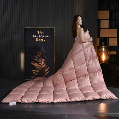 2020新款柔赛丝纯色羽绒被 150x200cm5斤 豆沙