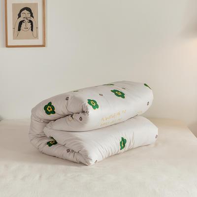 2020牛奶绒冬被  棉花被 垫被  活套被 磨毛+棉胎1.5*2.0m 5斤 梵宝